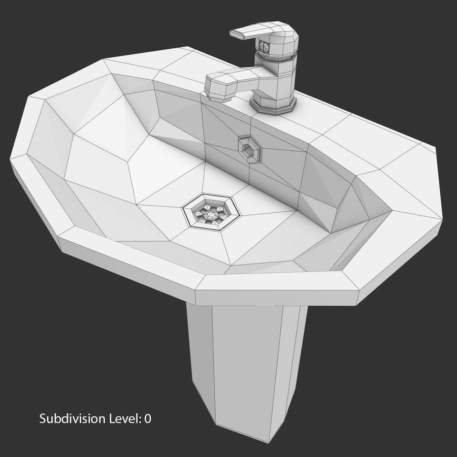 Banyo Bataryası ile Lavabo royalty-free 3d model - Preview no. 15
