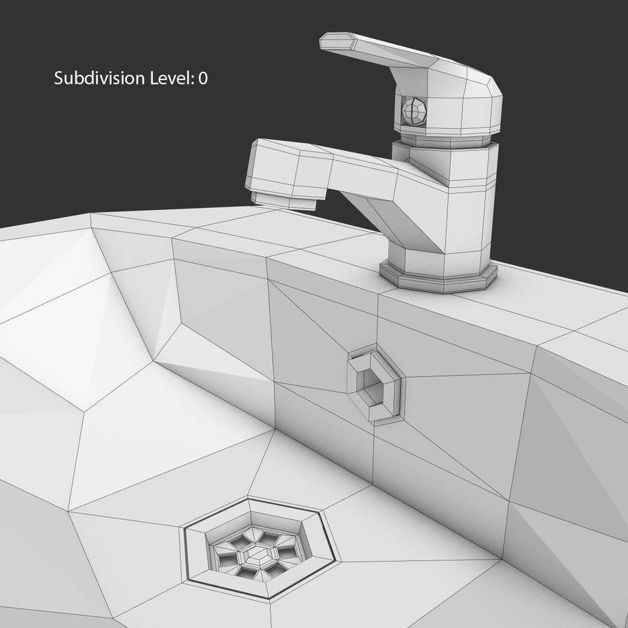 Banyo Bataryası ile Lavabo royalty-free 3d model - Preview no. 21