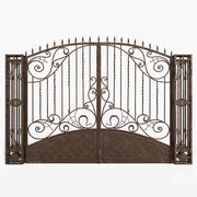 Gate with Patterns 3d model