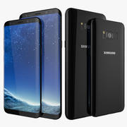 Samsung Galaxy S8 och Samsung Galaxy S8 Plus 3d model