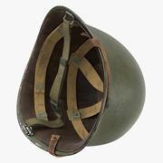 M1 Combat hjälm - utan lock - vänt 3d model