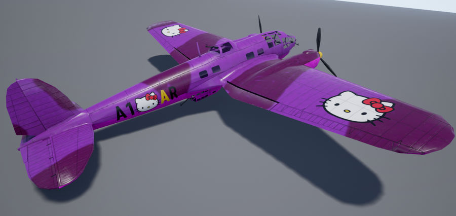 Heinkel 111 royalty-free 3d model - Preview no. 12