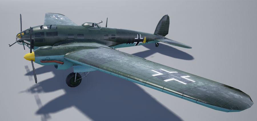 Heinkel 111 royalty-free 3d model - Preview no. 1