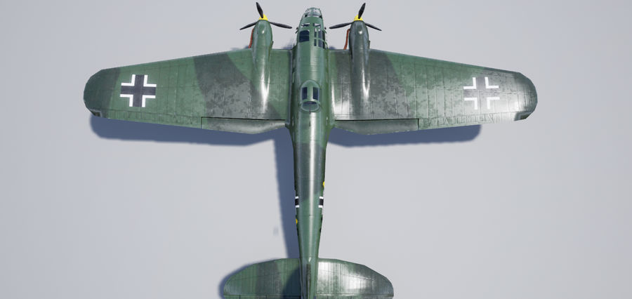 Heinkel 111 royalty-free 3d model - Preview no. 4
