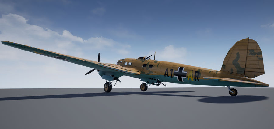 Heinkel 111 royalty-free 3d model - Preview no. 7