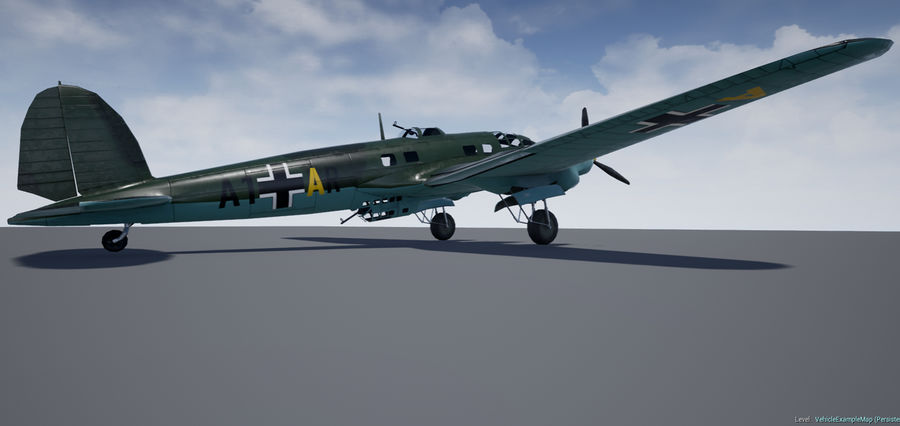 Heinkel 111 royalty-free 3d model - Preview no. 3