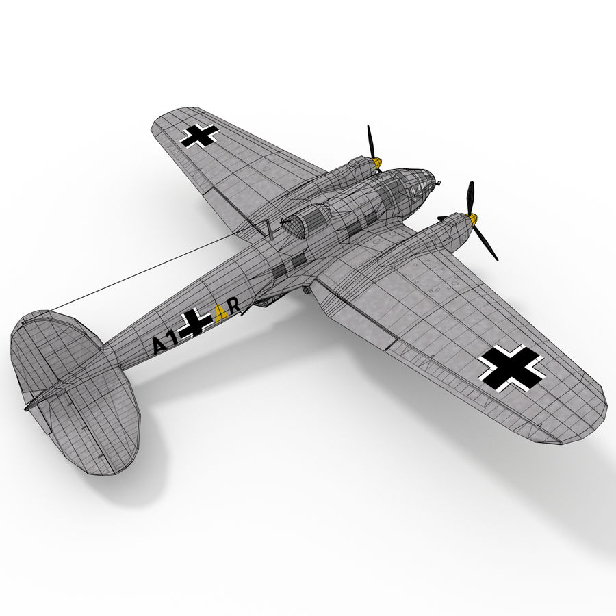 Heinkel 111 royalty-free 3d model - Preview no. 11