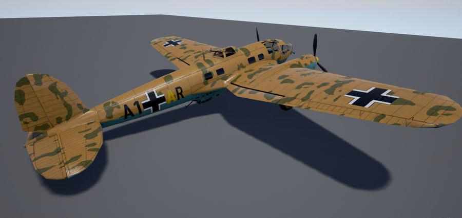 Heinkel 111 royalty-free 3d model - Preview no. 8