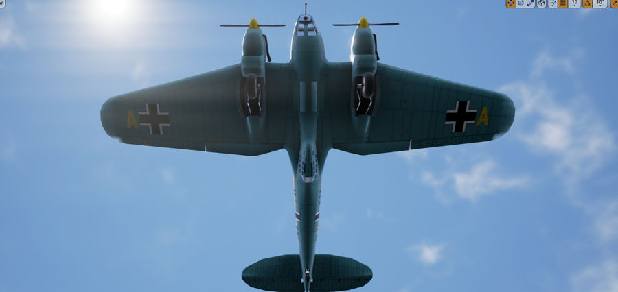 Heinkel 111 royalty-free 3d model - Preview no. 9