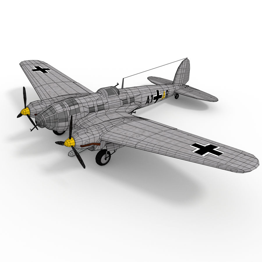 Heinkel 111 royalty-free 3d model - Preview no. 10