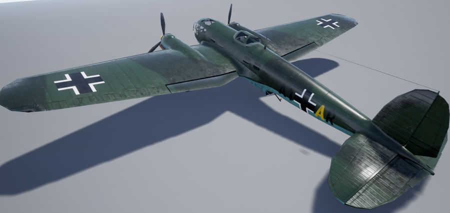 Heinkel 111 royalty-free 3d model - Preview no. 2