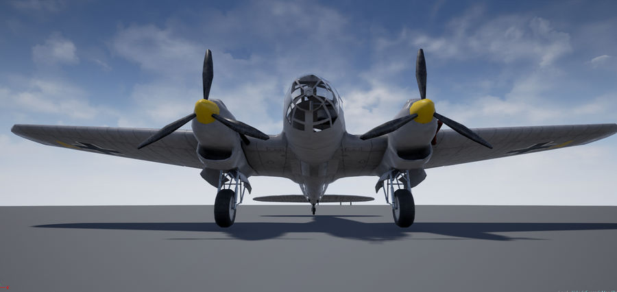 Heinkel 111 royalty-free 3d model - Preview no. 6