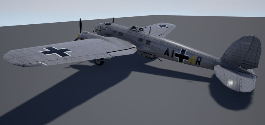 Heinkel 111 royalty-free 3d model - Preview no. 5