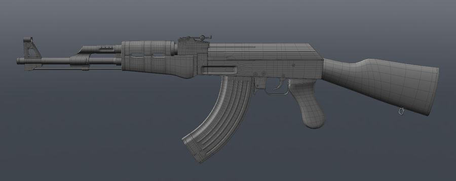 AK 47 Assault Rifle royalty-free 3d model - Preview no. 5