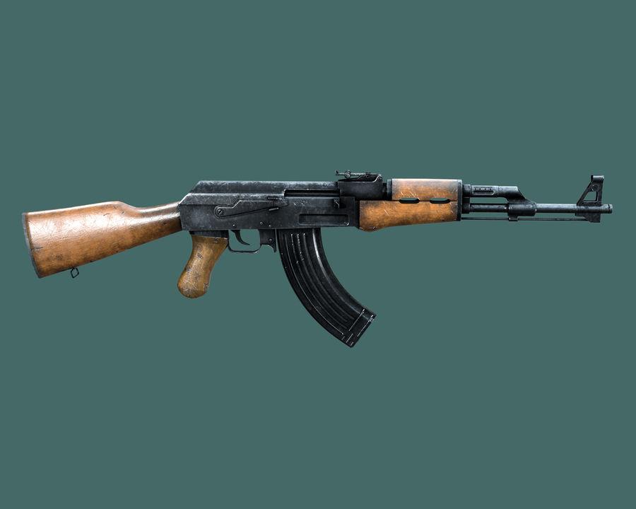 AK 47 Assault Rifle royalty-free 3d model - Preview no. 1