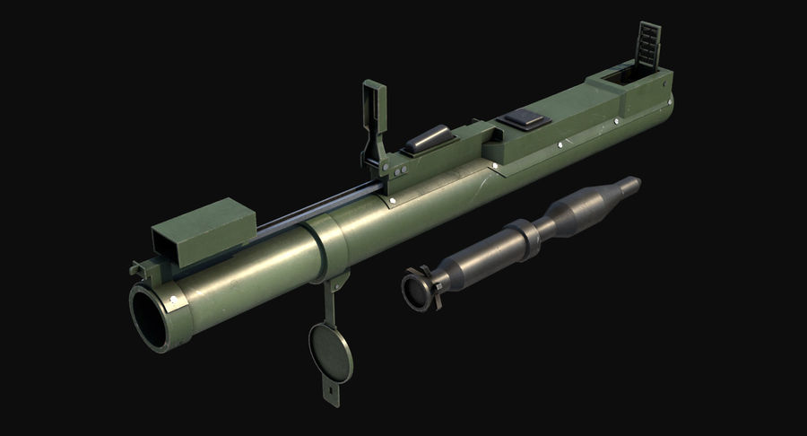 M72 LAW Rocket Launcher royalty-free 3d model - Preview no. 4