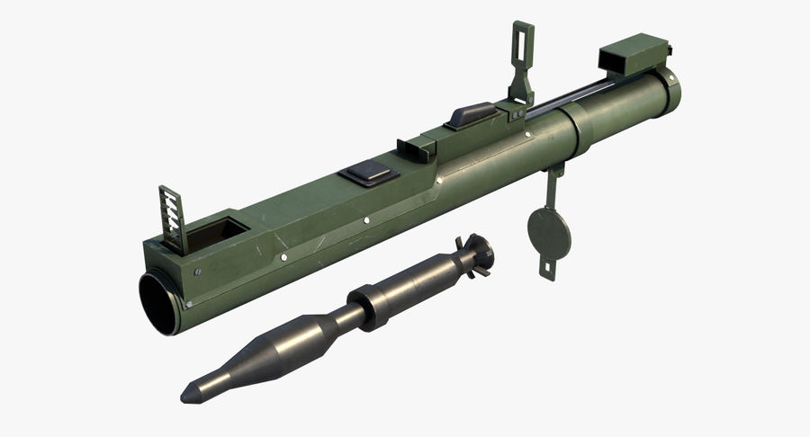 M72 LAW Rocket Launcher royalty-free 3d model - Preview no. 2