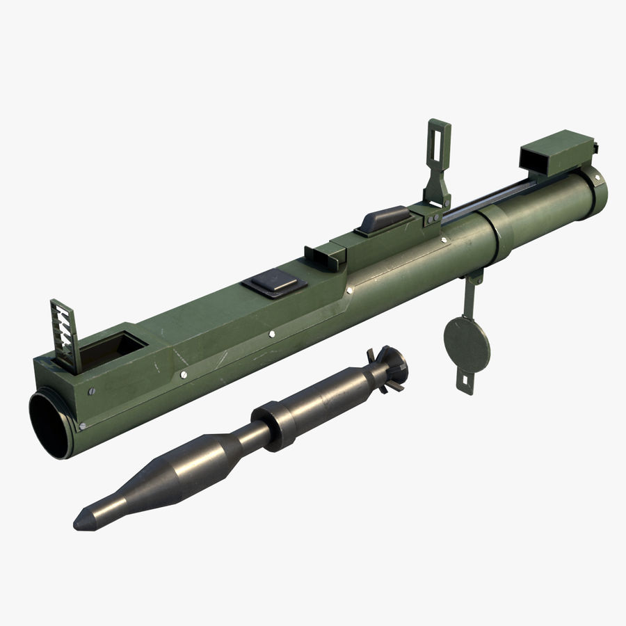 M72 LAW Rocket Launcher royalty-free 3d model - Preview no. 1