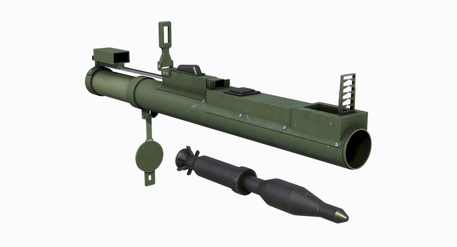 M72 LAW Rocket Launcher royalty-free 3d model - Preview no. 6