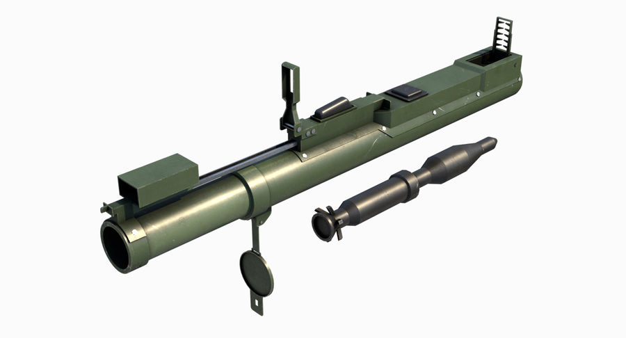 M72 LAW Rocket Launcher royalty-free 3d model - Preview no. 5