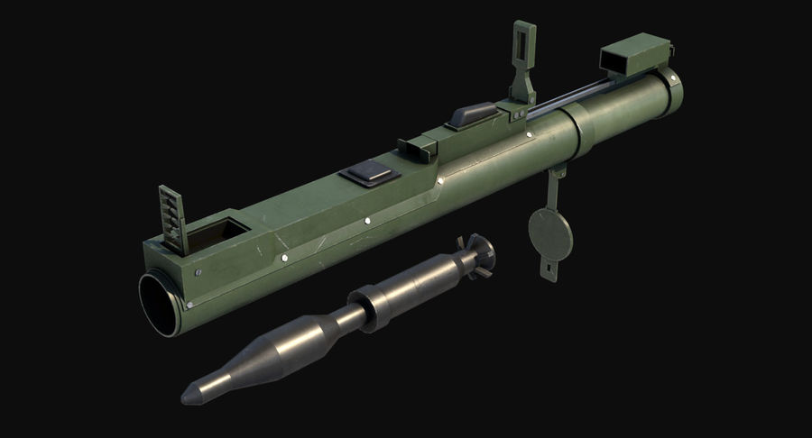 M72 LAW Rocket Launcher royalty-free 3d model - Preview no. 3
