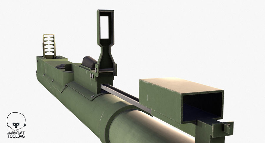 M72 LAW Rocket Launcher royalty-free 3d model - Preview no. 11