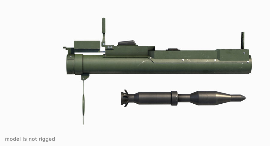 M72 LAW Rocket Launcher royalty-free 3d model - Preview no. 10