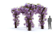 紫藤凉棚 3d model