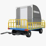 Luchthaven bagage aanhangwagen 04 3d model
