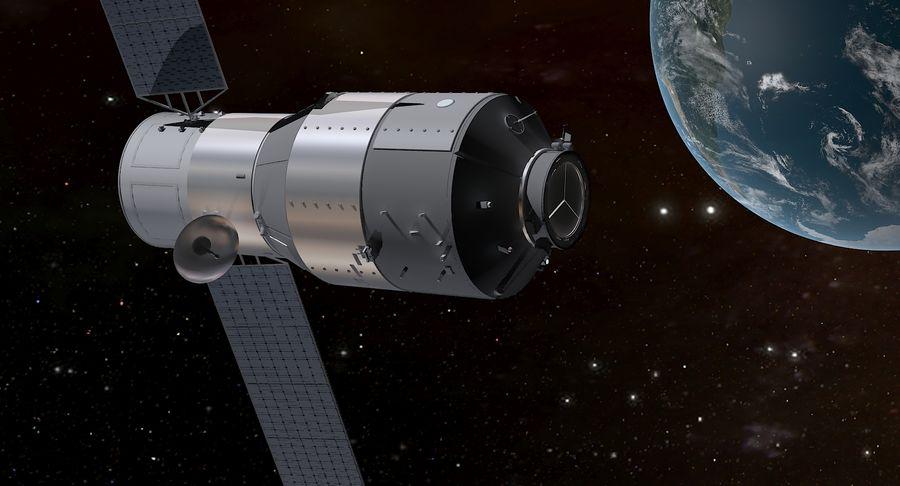 Satellite 01 royalty-free 3d model - Preview no. 7