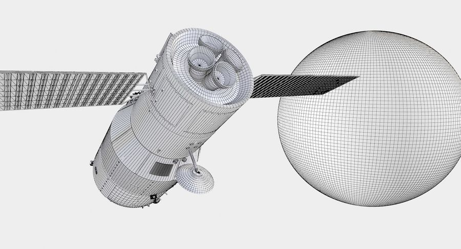 Satellite 01 royalty-free 3d model - Preview no. 9