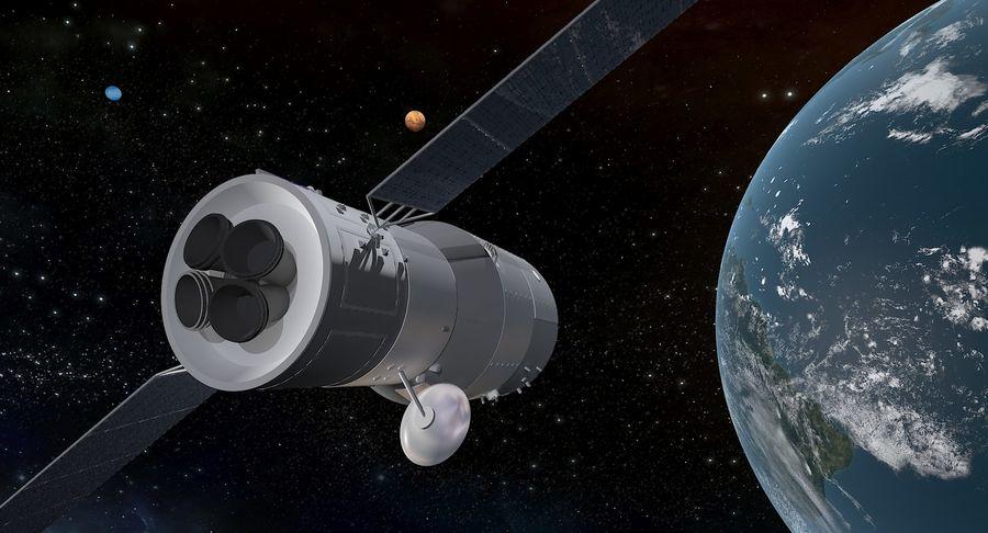 Satellite 01 royalty-free 3d model - Preview no. 4