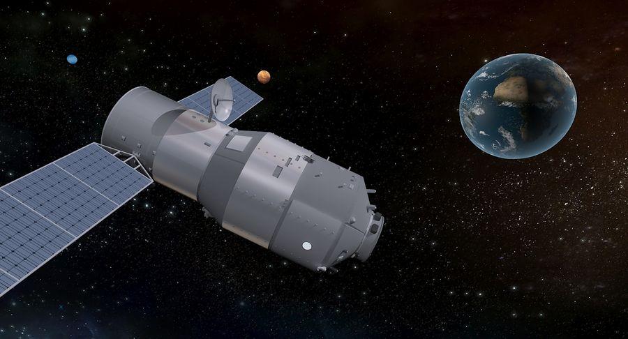 Satellite 01 royalty-free 3d model - Preview no. 3