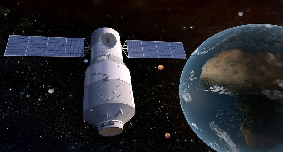 Satellite 01 royalty-free 3d model - Preview no. 2