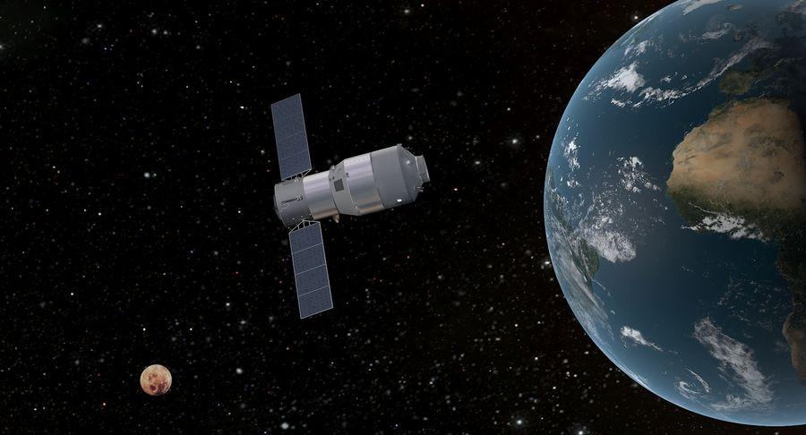 Satellite 01 royalty-free 3d model - Preview no. 5