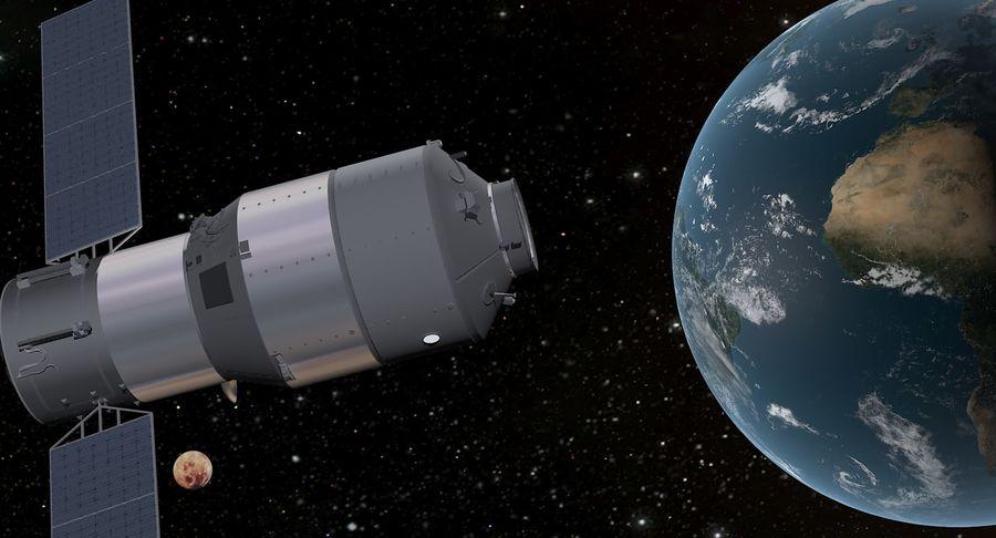Satellite 01 royalty-free 3d model - Preview no. 6