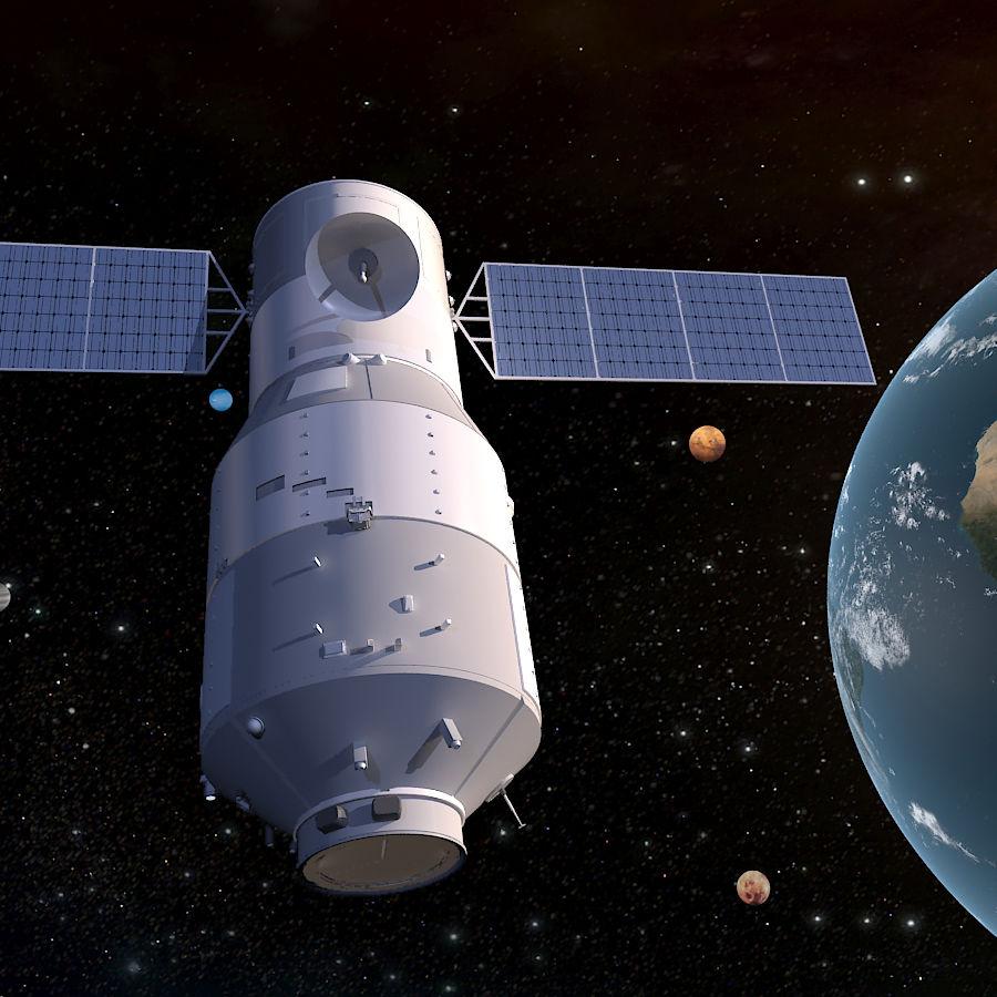 Satellite 01 royalty-free 3d model - Preview no. 1