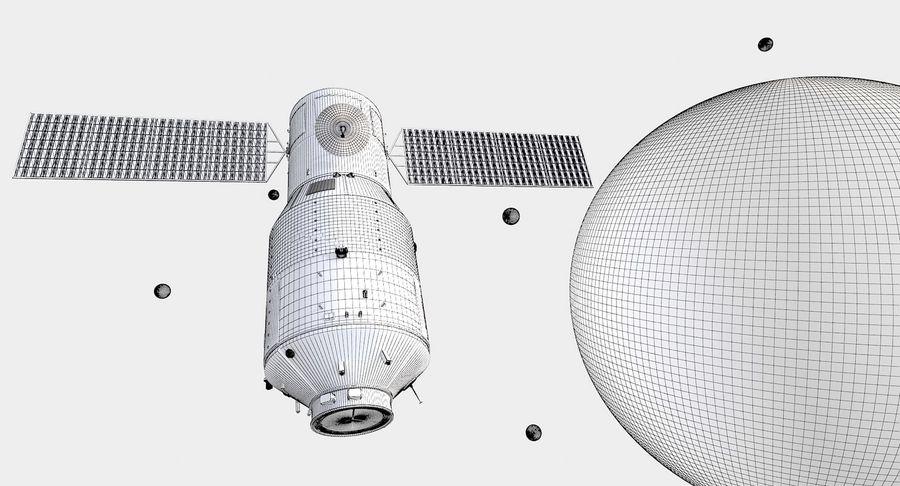 Satellite 01 royalty-free 3d model - Preview no. 8