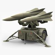 ホークミサイルランチャー(低ポリ) 3d model