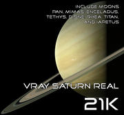 Vray Saturn Real 21K 3d model