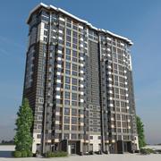 Residential terraced house 3d model