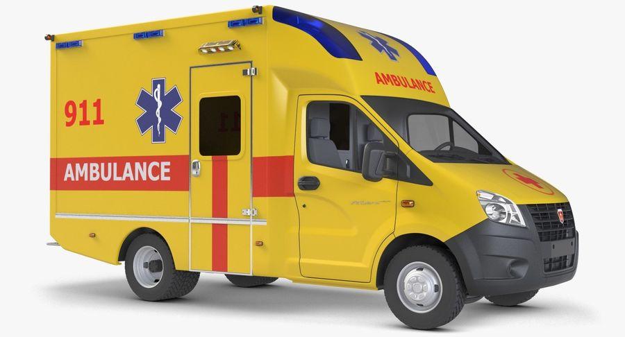 Ambulance Gazzele royalty-free 3d model - Preview no. 2