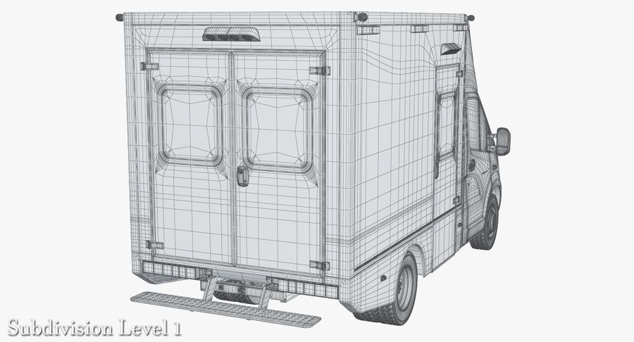 Ambulance Gazzele royalty-free 3d model - Preview no. 17