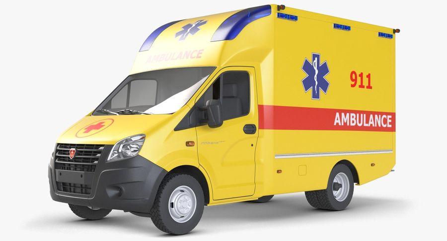 Ambulance Gazzele royalty-free 3d model - Preview no. 3