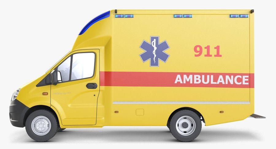 Ambulance Gazzele royalty-free 3d model - Preview no. 5