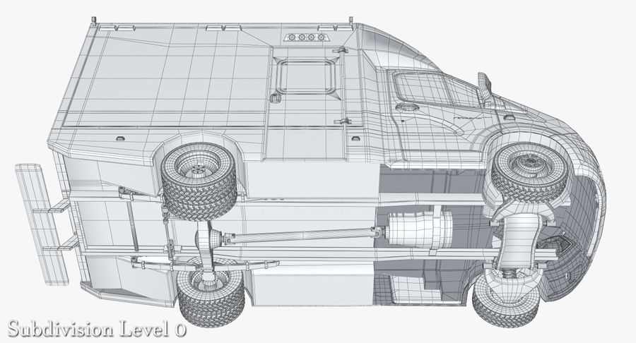 Ambulance Gazzele royalty-free 3d model - Preview no. 20
