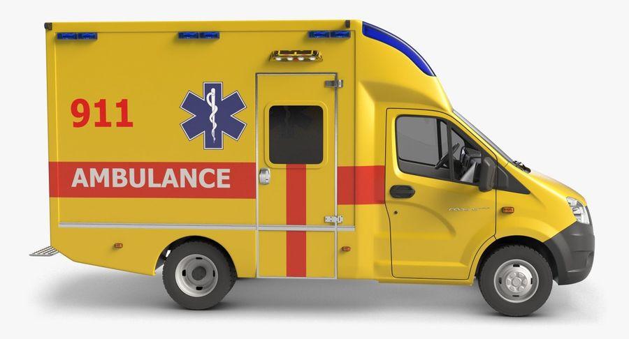 Ambulance Gazzele royalty-free 3d model - Preview no. 4