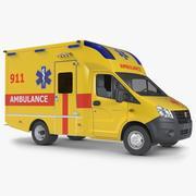 Krankenwagen Gazzele 3d model