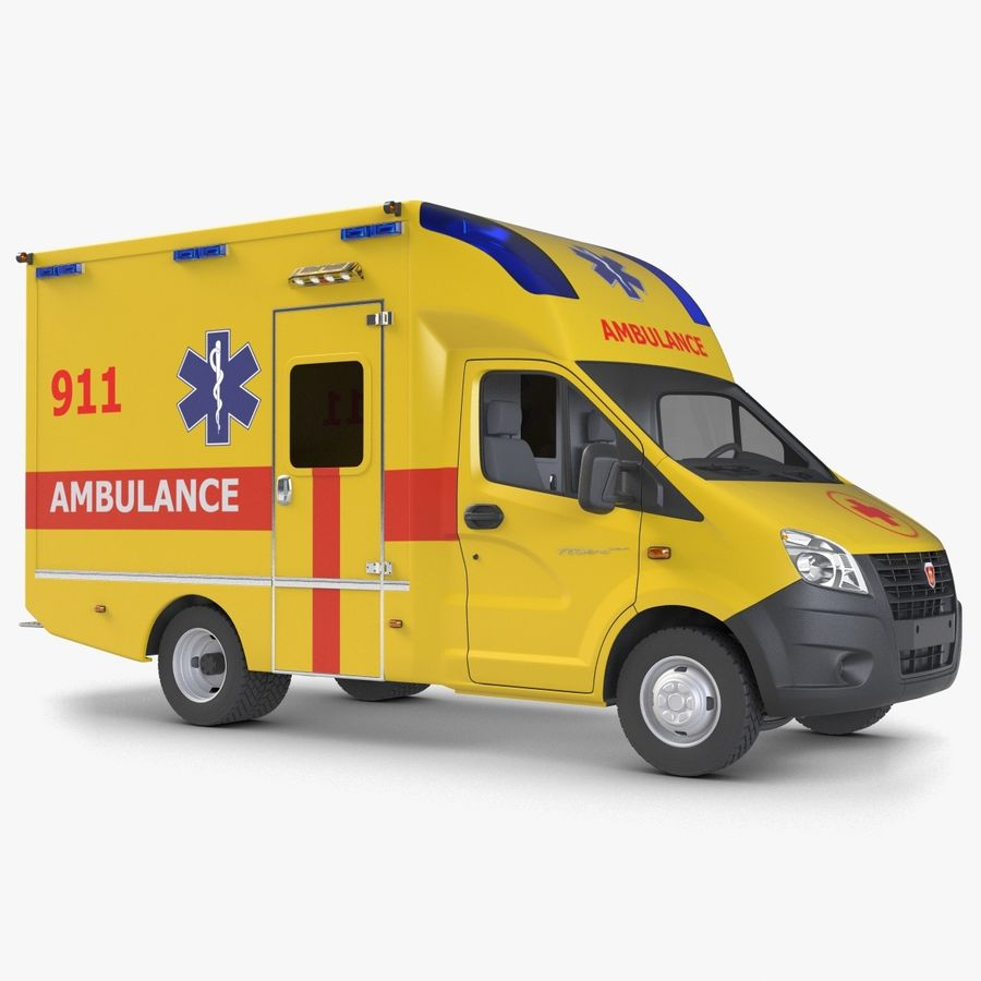 Ambulance Gazzele royalty-free 3d model - Preview no. 1