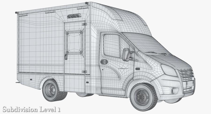 Ambulance Gazzele royalty-free 3d model - Preview no. 11